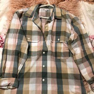Gap Buttoned Down Plaid Shirt